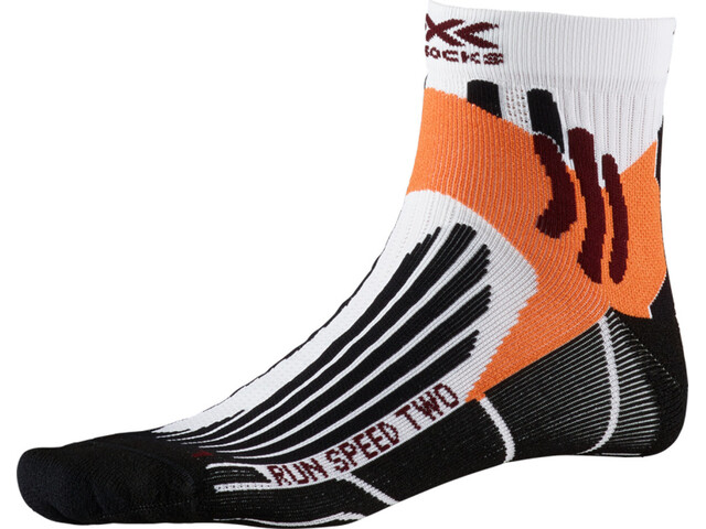 X-Socks Run Speed Two Chaussettes Homme, arctic white/opal black